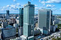 Financial center, Warsaw, Poland.
