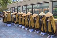 Japan , Tokyo City, Ikebukuro District, Monks.