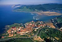 Mundaka and Urdaibai Estuary. Urdaibai biosphere Reserve. Urdaibai. Region. Bizkaia. Basque Country. Spain.