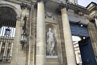 Statue on City Hall Facade; Bordeaux; France.