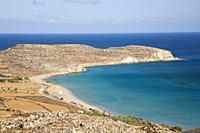 View of Xerokambos, Crete island, Greece, Europe.