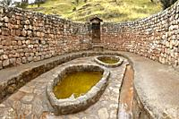 Salted ponds in tourist center of Cahi Pozo in Tarma. Junín - Perú