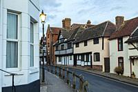 Evening in Steyning, a historic small town in West Sussex, England.