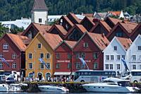 Tyske Bryggen, Bergen, Norway, Scandinavia.