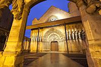Church in Olite, Navarre, Spain.