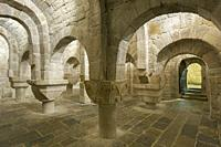 Crypt of the Monastery of Leire, Navarre, Spain.