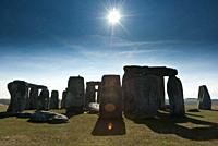 Stonehenge prehistoric monument in Wiltshire, England.