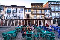 Largo da Oliveira square in the UNESCO historic centre of Guimaraes city in Minho Province of northern Portugal.