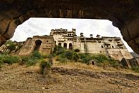 The atmospheric ruined Bundi Palace, Rajasthan, India.