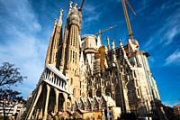 Sagrada Família by Antoni Gaudí in Barcelona. Catalonia, Spain.