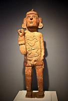 An image of the god Xipe-Totec displayed in Museo Amparo, in Puebla de los Angeles, Mexico.