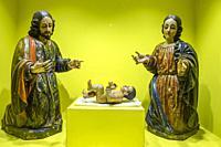 misterio de nacimiento, talla en madera encarnada, y policromada, siglo XVIII, museo colonial, Casa de Santo Domingo, antiguos templo y convento de Sa...
