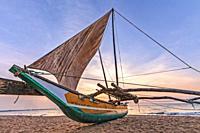 Negombo Beach, Oruwa, Colombo, Western Province, Sri Lanka, Asia.
