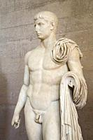 Europe, Greece, Peloponnese, ancient Corinth, archaeological site, Archaeological museum, statue of Gaius Caesar.