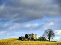 derelict farm building near Lauzun, Lot-et-Garonne Department, Aquitaine, France.