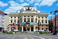 Slovak National Theatre on the Hviezdoslavovo Square in Bratislava - Slovakia.