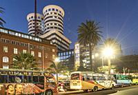 Africa. Kenya. Nairobi, Modern buildings downtown Nairobi.