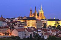 Prague at Dusk, Czech Republic.