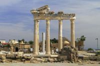 Temple of Apollo, Side, Antalya, Turkey.