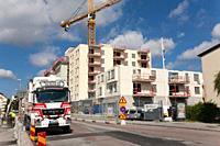 Building construction site, Stockholm, Sweden.
