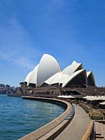 Sydney Opera House and Opera Bar, Sydney Harbour, Sydney, New South Wales, Australia,.