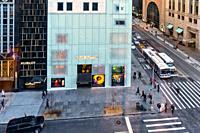 New York City, Manhattan, Midtown. Looking Down at the Intersection of Fifth Avenue and East 57th Street.