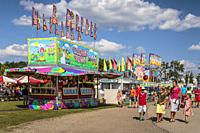 The Wonder Shows Midway at the Harvest Festival 2017, Winkler, Manitoba, Canada.