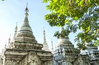 Kuthodaw Pagoda in Mandalay Myanmar.