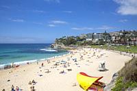 Bronte beach on a summers day in Sydney eastern suburbs,Australia.
