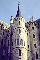 Episcopal Palace, by Antoni Gaudi. Astorga, Leon province, Castilla Leon, Spain.