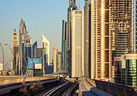 Dubai Metro, Dubai, United Arab Emirates.