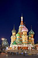 The Cathedral of Vasily the Blessed, commonly known as Saint Basil's Cathedral. Red Square, Moscow, Russia.
