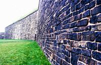 Rock walls of citadel in halifax nova scotia canada.