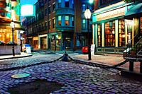 A rare calm night is witnessed in Boston's Historic North End, Home to a Large Italian American Community.