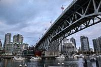 Granville Street bridge, Vancouver, Canada.