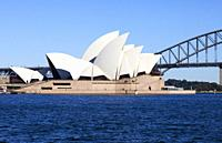 Sydney Opera House and Harbour Bridge, Sydney, Australia.