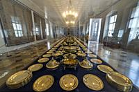 Collection of silverware in the Munich Residenz.