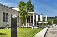 The Museum of Modern Art (Moderna Galerija) is located in Ljubljana. The building was built 1948 by architect Edvard Ravnikar, Ljubljana, Slovenia, Eu...