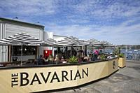Bavarian beer cafe and restaurant on Manly Wharf in Sydney, Australia.