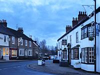 The Crown Hotel and Horsefair at Dusk Boroughbridge North Yorkshire England.