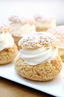 Whipped cream puffs.