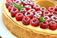 Raspberries tart, Cyril Lignac Style.