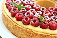Raspberries tart, Cyril Lignac Style.