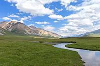Naryn gorge, River, Naryn Region, Kyrgyzstan.