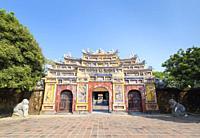 The To Mieu gate, Hue imperial city, Vietnam.