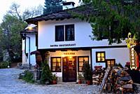 Traditional houses and square of Bojentsi, Bulgaria.