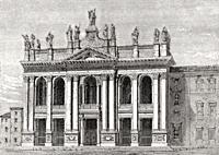 Basilica of Saint John Lateran, Rome, Italy, 19th Century.