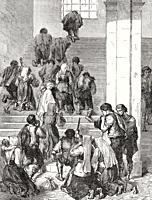 The Scala Sancta, Holy Stairs, Basilica of Saint John Lateran, Rome, Italy, 19th Century.