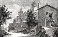 Basilica di Santa Croce in Gerusalemme, Rome, Italy, 19th Century.