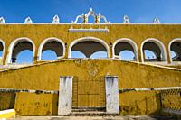 The ex convent San Antonio de Padua in Izamal, Yucatan, Mexico.